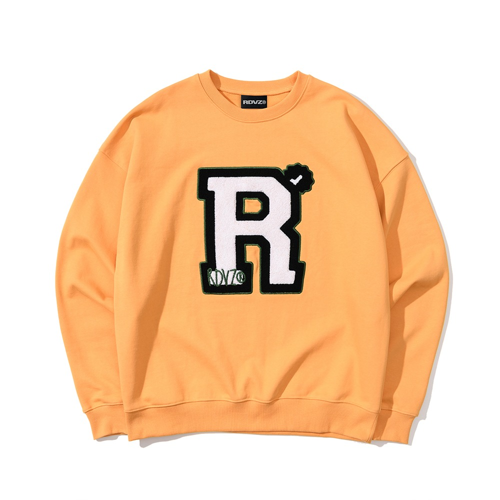 랑데부 BIG 'R' BOUCLE SWEAT TOP MUSTARD